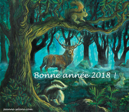 Bonne Année 2018 Jeanne Sélène
